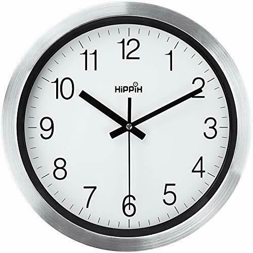 Silent Wall Clock 12 Inch Battery Operated Non Ticking Large Decorative Quiet C Wall Clocks Ebay Link In 2020 Wall Clock Metal Wall Clock Kitchen Wall Clocks