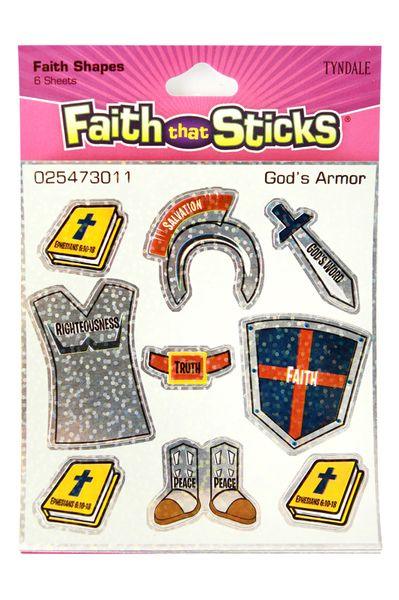 Faith that Sticks, God's Armor Stickers, Package of 54