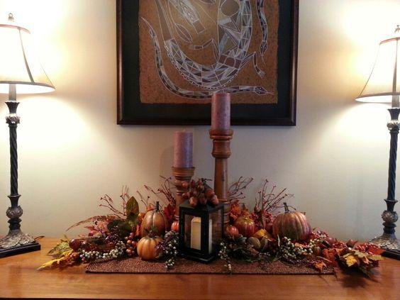 Fun with Fall decorating