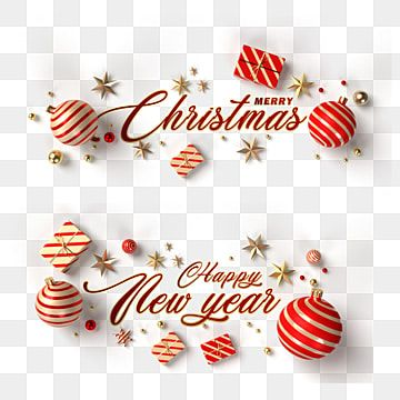 Merry Christmas And Happy New Year Christmas E Decorations Golden Balls And Stars On A Transparent Background Visualization Christmas Decorations Clipart Chr Christmas Lettering Happy Holiday Greeting Cards Merry Christmas And