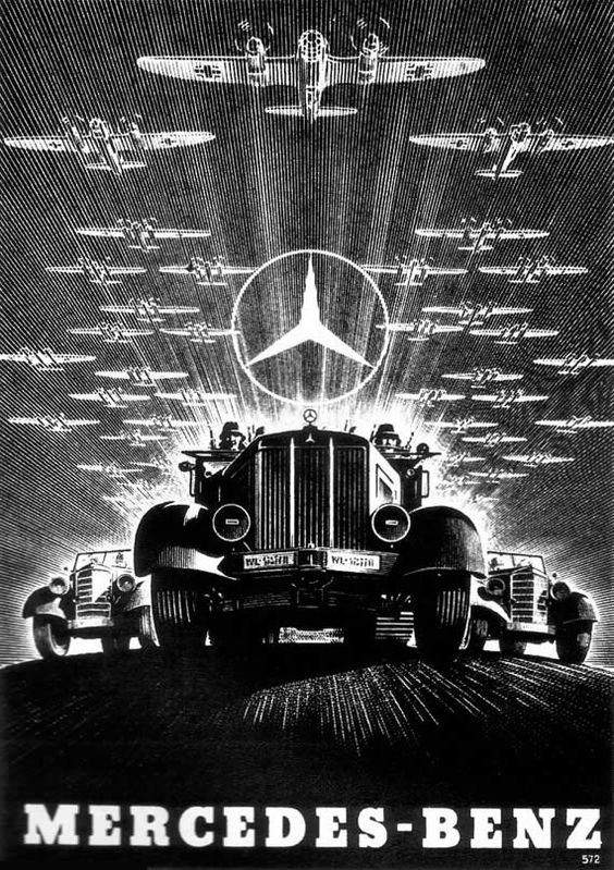 1920s advertisements aggressive advertising for for Mercedes benz germany internship