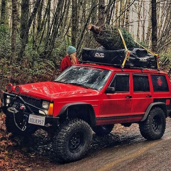 Its That Time Again Christmas Is Right Around The Corner I Personally Love The Smell Of Pine Needles When We Bring Our Tr Jeep Xj Jeep Cherokee Xj Jeep Sport