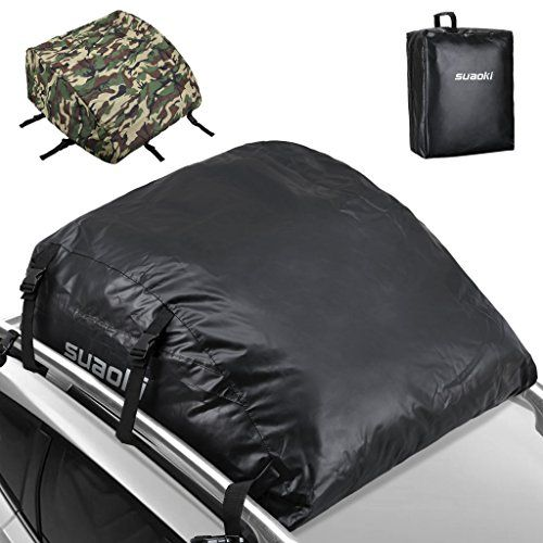 Suaoki Car Top Carrier 100 Waterproof Roof Top Cargo Bag 15 Cubic Feet For Car Truck Suv Van With Or Without Roof Rack Extra Camouflage Cover And Carrying Bag Roof Rack