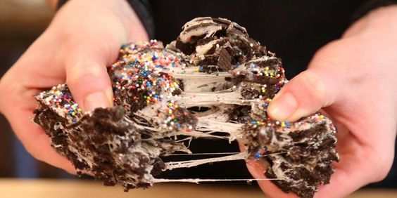 Oreos and melted marshmallows come together for the most epic Rice Krispie treat ever.