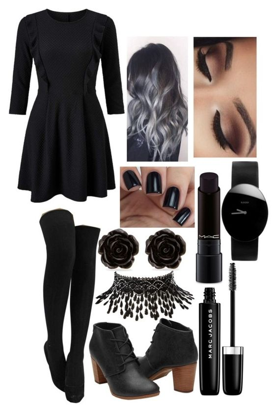 """""""_Recommended Song-"""" by kaninekiller ❤ liked on Polyvore featuring Miss Selfridge, Marc Jacobs, MAC Cosmetics, Amrita Singh, Erica Lyons and Rado"""