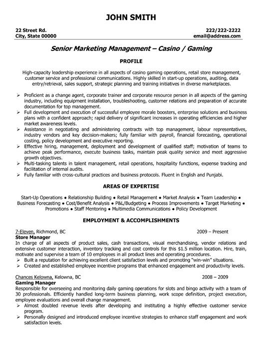 click here to this store manager resume template