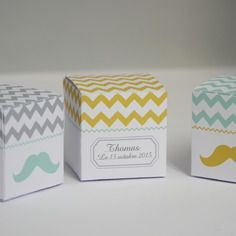 Chevron boutiques and moustache on pinterest - Idee dragee bapteme garcon ...
