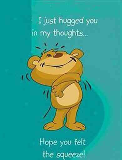 """""""I just hugged you in my thoughts ... Hope you felt the squeeze!"""" —Unknown #missingyou #quotes #thinkingofyou #familyquotes #thinkingofyouquotes #missingyouquotes Follow us on Pinterest: www.pinterest.com/yourtango"""