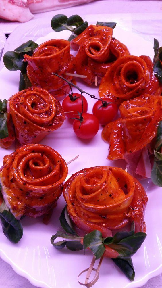 rosas preparadas para hacer en el horno o a la barbacoa sabor unico