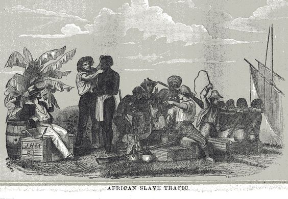 Europeans Buying Enslaved Africans, 19th cent.