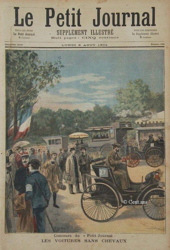 1894 paris rouen motoring competition 1st race ever held le petit journal - Petit journal de lattes ...