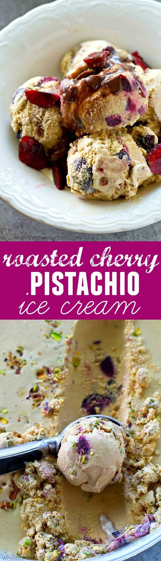 Pistachio ice cream, Pistachios and Cherries on Pinterest