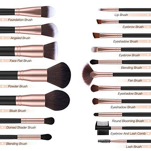 Amazon Com Bestope Makeup Brushes 18 Pcs Makeup Brush Set Premium Synthetic Foundation Powder Kab Bestope Makeup Brushes Makeup Brushes Amazon Eye Makeup Kits