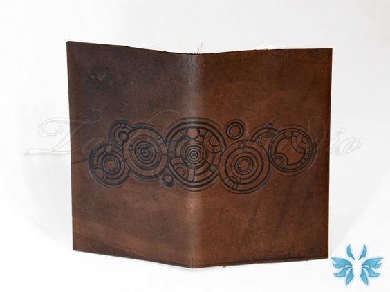 IN STOCK  The Doctors Name  Doctor Who leather by TaeliacStudio; absolutely LOVE this journal cover!