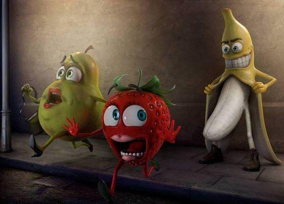 jajajajaja, escandalizadita esta la fruta