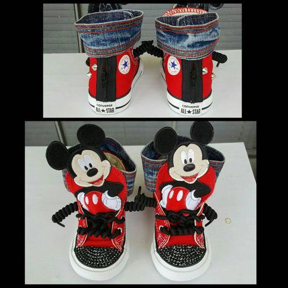 Mickey Mouse Jeans Halsband benutzerdefinierte von KlutteredKicks
