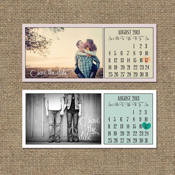 Printable Save The Date Calendar PDF // Modern, Simple Design ...
