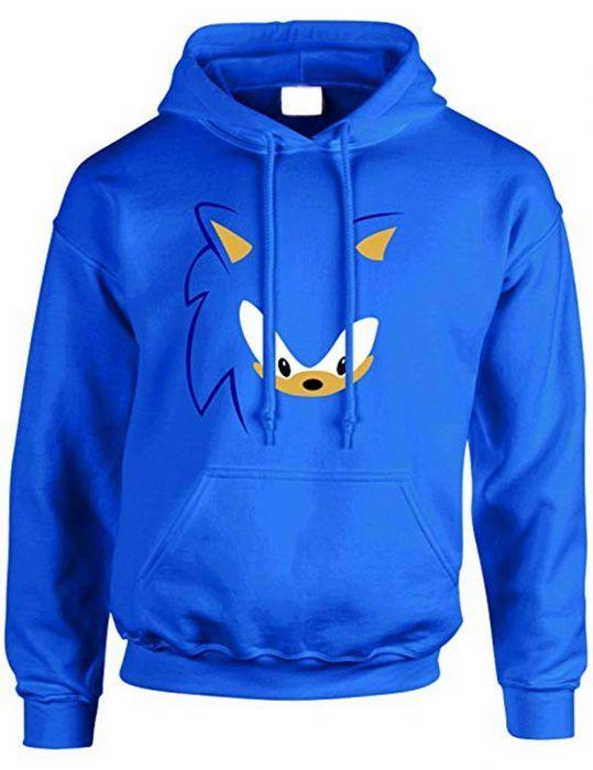 Sonic The Hedgehog Ben Schwartz Hoodie Hoodies Sonic The Hedgehog Blue Hoodie