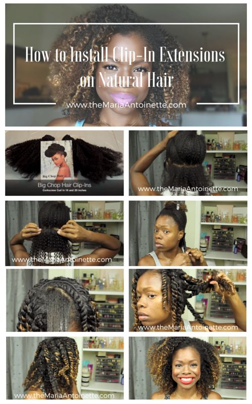 How-install-clip-ins-on-natural-hair