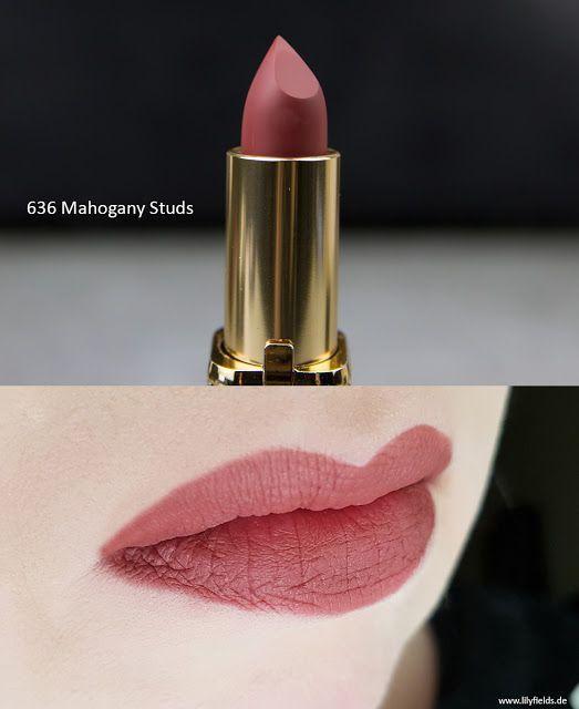 L Oreal Color Riche Matte Lippenstifte 636 Mahogany Studs Lipstickdupes Goz Fari Egitimleri Rujlar Makyaj