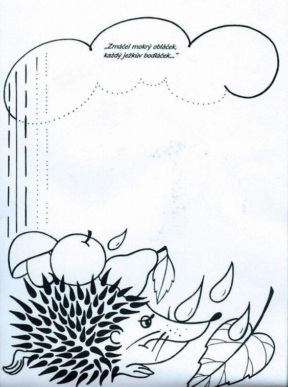Ježek adéšť- svislé čáry
