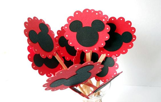 Mickey Mouse Cupcake Toppers by sunshowerstuff on Etsy, $3.50