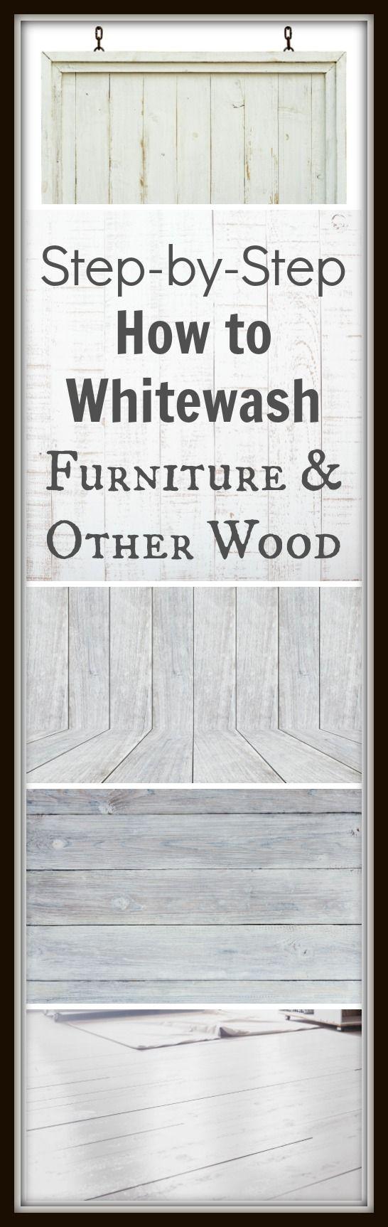 How To Whitewash Furniture U0026 Other Wood | Whitewash Furniture, Woods And  Paint Furniture