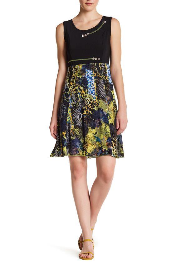 Sleeveless Button Detail Dress