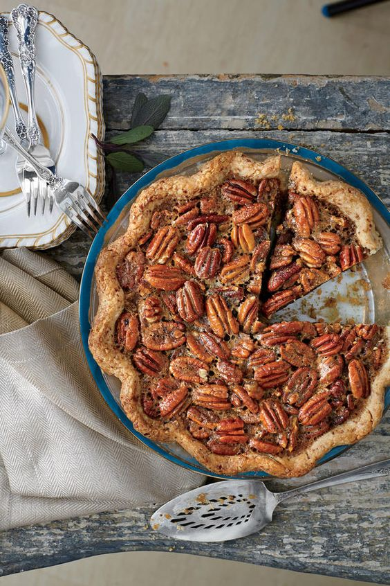 We love the combination of pecans and smoky-sweet bourbon in the thick, rich pie filling. For a booze-free pie, substitute apple juice for the whiskey in the filling, and serve with plain sweetened whipped cream or enjoy it without.     Recipe: Tennessee Whiskey-Pecan Pie