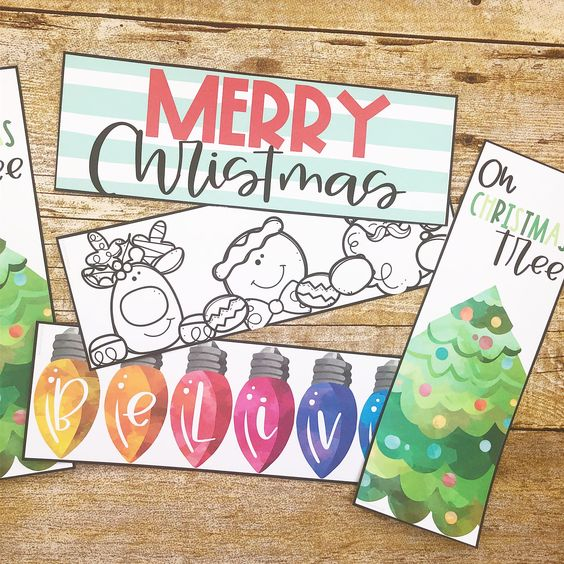 Free Christmas Bookmarks to use for your classroom!