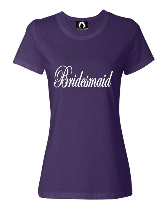 Womens Bridesmaid Bridal Party T-Shirt