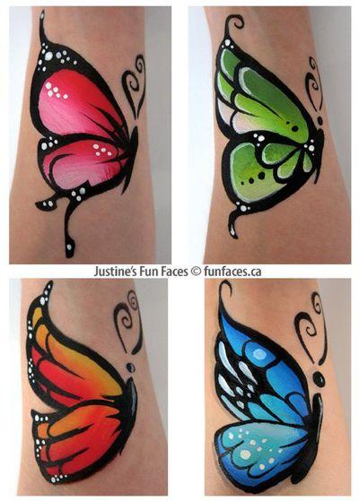 Butterfly body paint