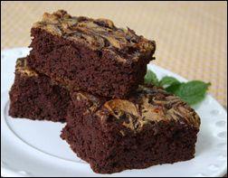 Peanut Butter Brownies - no oil- pumpkin PB and fat free milk
