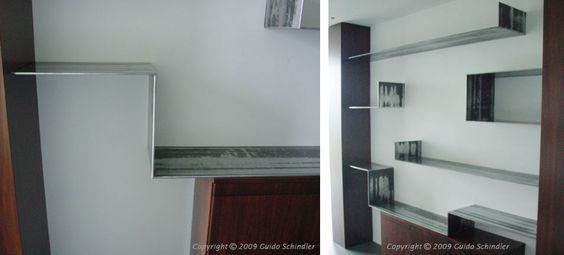floating steel shelves | by Schindler Metalworks