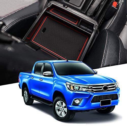 Car Interior Front Center Console Armrest Organizer Tray Storage Box For Toyota Hilux Revo Hilux 2016 2019 Review Toyota Hilux Car Interior Car