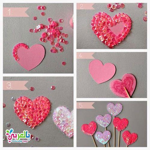 ديكور قلوب صنع قلوب من الورق للزينة والديكور شكل قلب En 2020