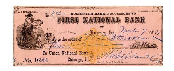 Paper cheque.