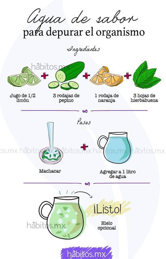 Hábitos Health Coaching   Agua DE sabor para depurar el organismo….