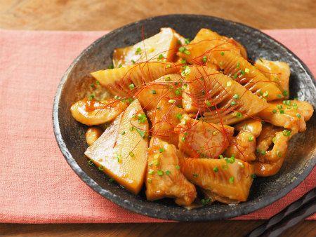 筍と鶏むね肉の照り煮