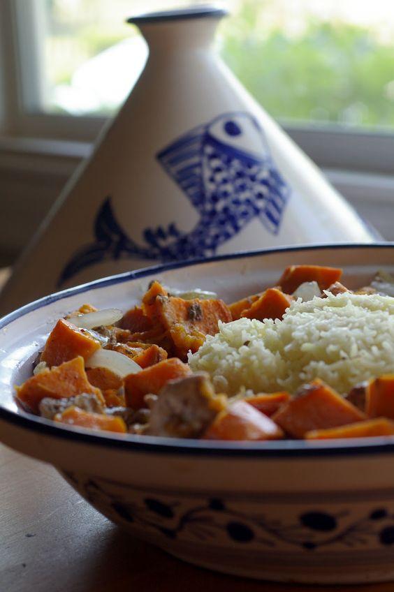 My Catholic Kitchen » African Chicken and Yam Tagine