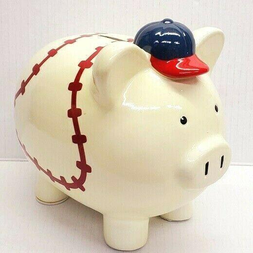 Details About Baseball Piggy Bank Money Coin Bills Save Decorative