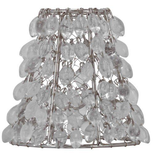 Clip On Chandelier Shades: Chandelier Shade Mini Clip On Candle Cover Clear Crystal,Lighting