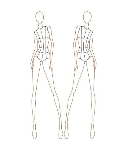 Fashion Sketch Templates | Sketching, Female fashion and Costume ...