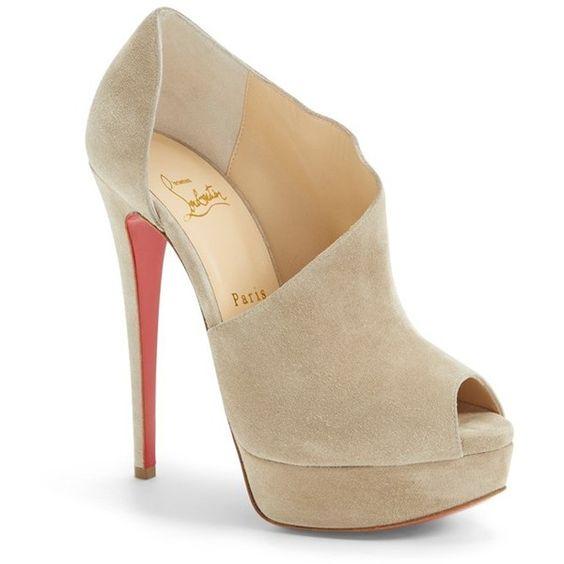 christian louboutin replica shoes - Christian Louboutin 'Verita' Cutout Platform Peep Toe Bootie, 5 1 ...