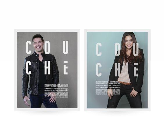 Portadas Revista Couché, Design by Conca y Marzal