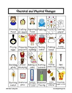Worksheets Physical And Chemical Properties Worksheet 6th Grade chemical and physical changes education pinterest changes
