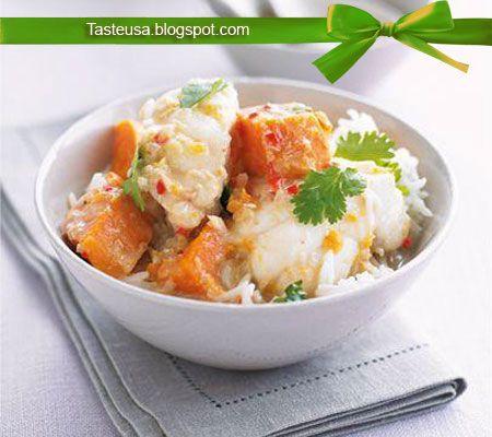 Monkfish and sweet potato curry recipe