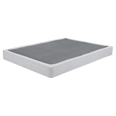 Queen Size Folding Box Spring 6 Inch Low Profile Strong Structure Metal Mattress Foundation Black With Images