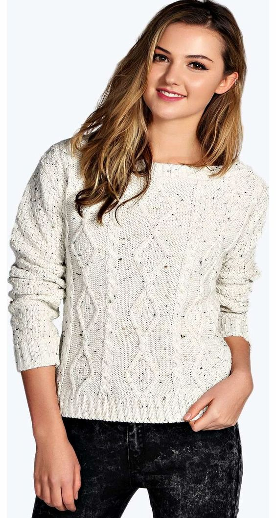 boohoo Jenny Nep Yarn Slash Neck Crop Cable Jumper - Go back to nature with your knits this season and add animal motifs to your must-haves. When youre not wrapping up in woodland warmers, nod to chunky Nordic knits and polo neck jumpers in peppered mar http://www.comparestoreprices.co.uk/womens-clothes/boohoo-jenny-nep-yarn-slash-neck-crop-cable-jumper-.asp