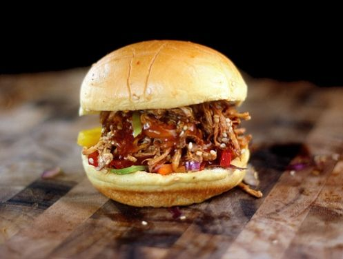 Pulled Honey Sesame Chicken Sliders with Rainbow Slaw by Lisa Michele    http://lisamichele.wordpress.com/2012/07/09/pulled-honey-sesame-chicken-sliders-with-rainbow-slaw-and-part-14b/#